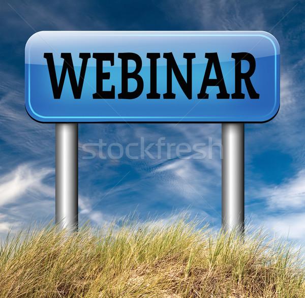 Webinar online konferencia internet háló megbeszélés Stock fotó © kikkerdirk