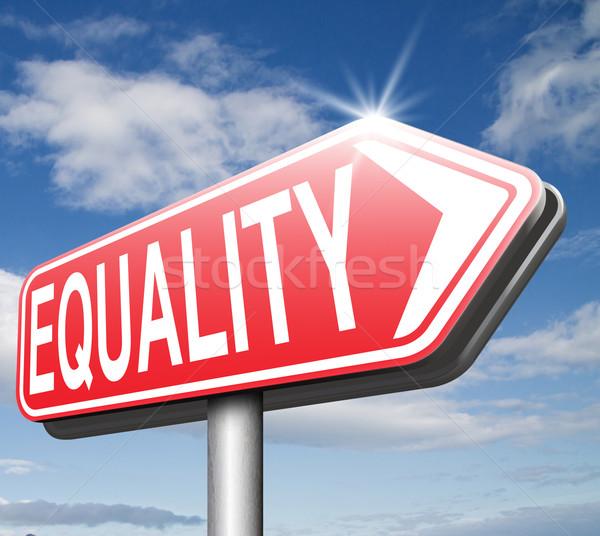 平等 違い 等しい ストックフォト © kikkerdirk
