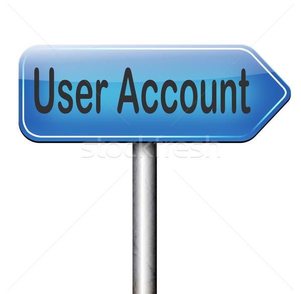 Usuario cuenta miembro navegación abierto Foto stock © kikkerdirk