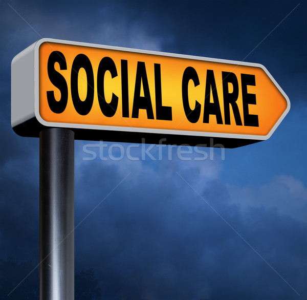 Social cuidar saúde segurança saúde seguro Foto stock © kikkerdirk