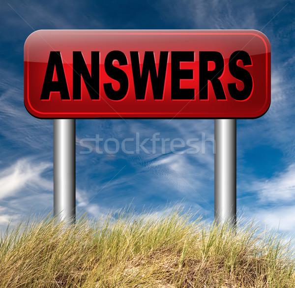 search answers Stock photo © kikkerdirk