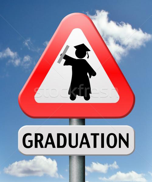 卒業 大学 大学 高校 仕上げ 教育 ストックフォト © kikkerdirk