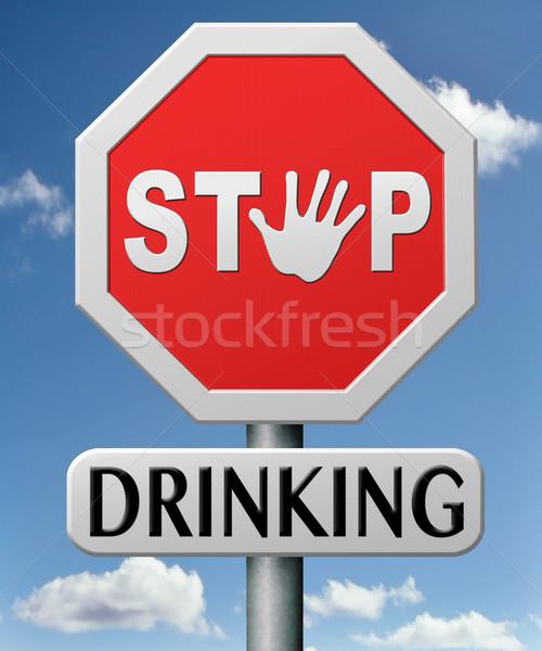 Parada potable alcohol abuso dependencia Foto stock © kikkerdirk