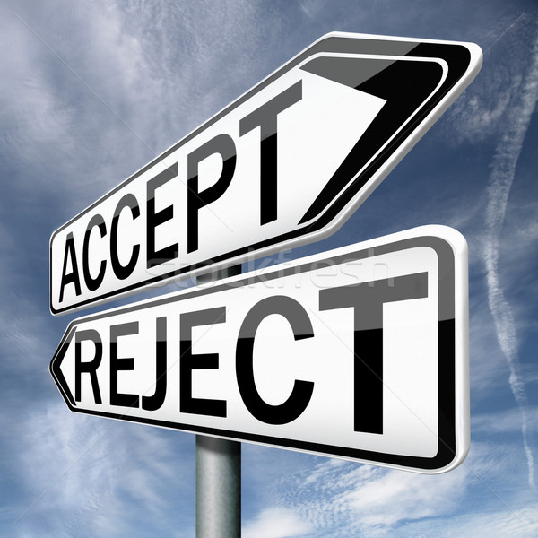 accept or refuse Stock photo © kikkerdirk