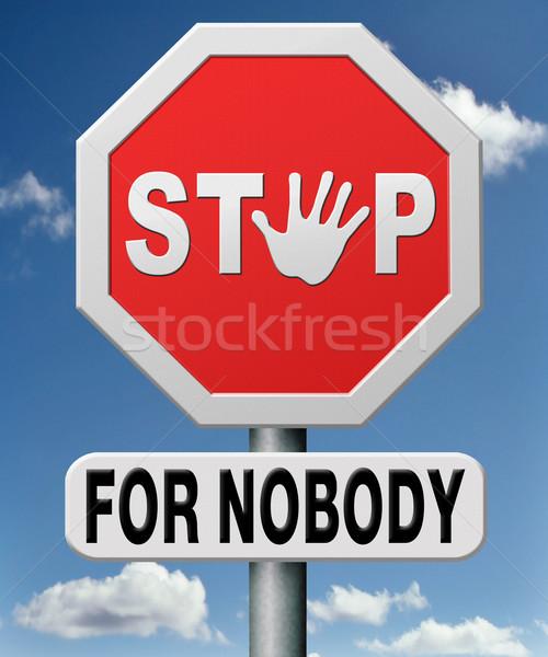 Stoppen niemand nooit geven omhoog ja Stockfoto © kikkerdirk