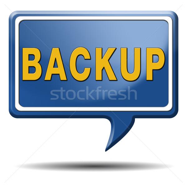 Backup icon teken gegevens software kopiëren Stockfoto © kikkerdirk
