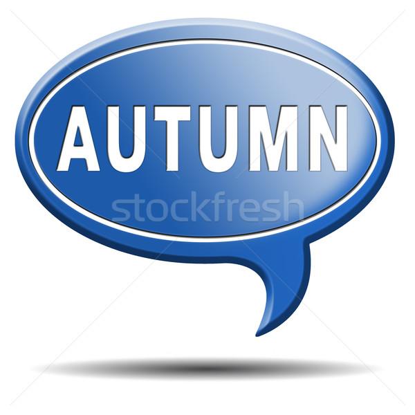 autumn label Stock photo © kikkerdirk