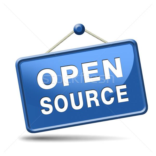 Open bron software programma economie internet Stockfoto © kikkerdirk