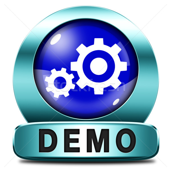 demo icon Stock photo © kikkerdirk