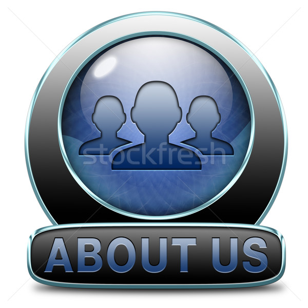 Over ons team icon knop teken web Stockfoto © kikkerdirk
