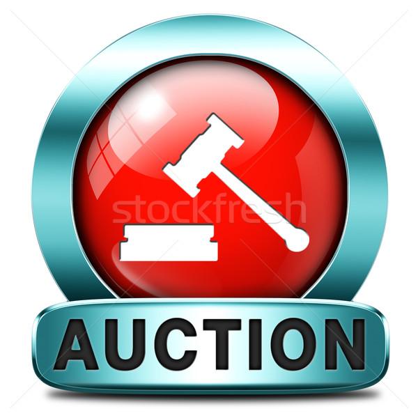 Veiling teken online verkoop kopen onroerend Stockfoto © kikkerdirk