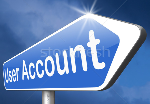 Użytkownik konto członkostwo rejestracja nawigacja otwarte Zdjęcia stock © kikkerdirk