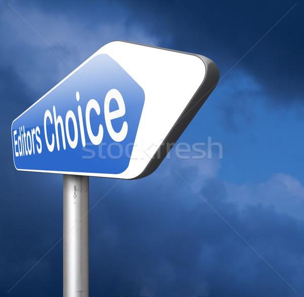 Elección adjudicación mejor editor ganador etiqueta Foto stock © kikkerdirk