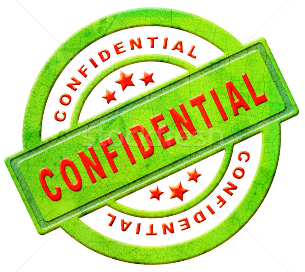 confidential stamp Stock photo © kikkerdirk