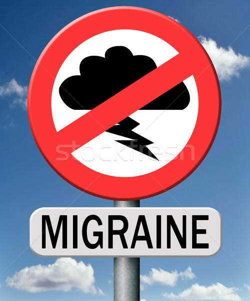 Migraine hoofdpijn pijn moordenaar geneeskunde gezondheid Stockfoto © kikkerdirk