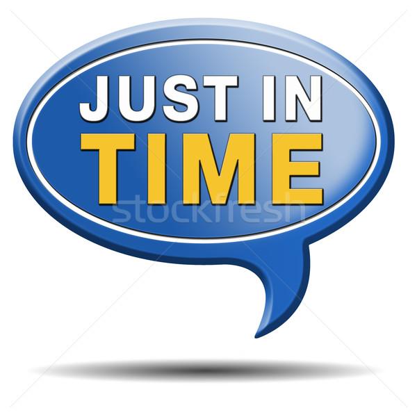 Idő házhozszállítás felirat ikon nyomás határidő Stock fotó © kikkerdirk