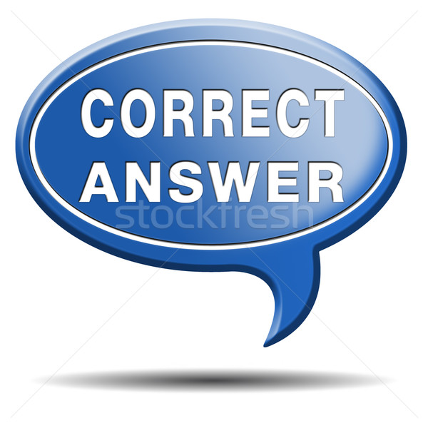 Skorygowania odpowiedź wyboru sukces przycisk Zdjęcia stock © kikkerdirk