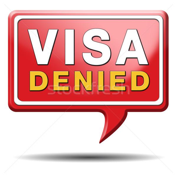 Visado inmigración sello frontera aduana Foto stock © kikkerdirk