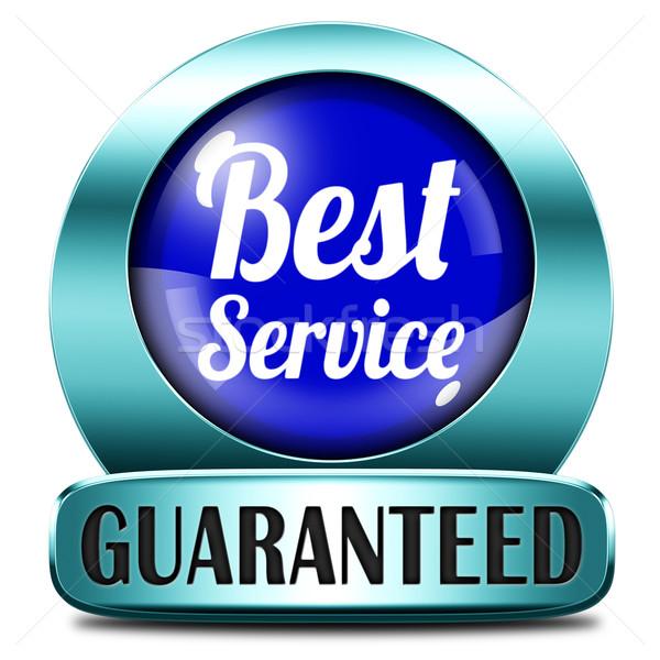 Mejor servicio 100 satisfacción del cliente etiqueta Foto stock © kikkerdirk