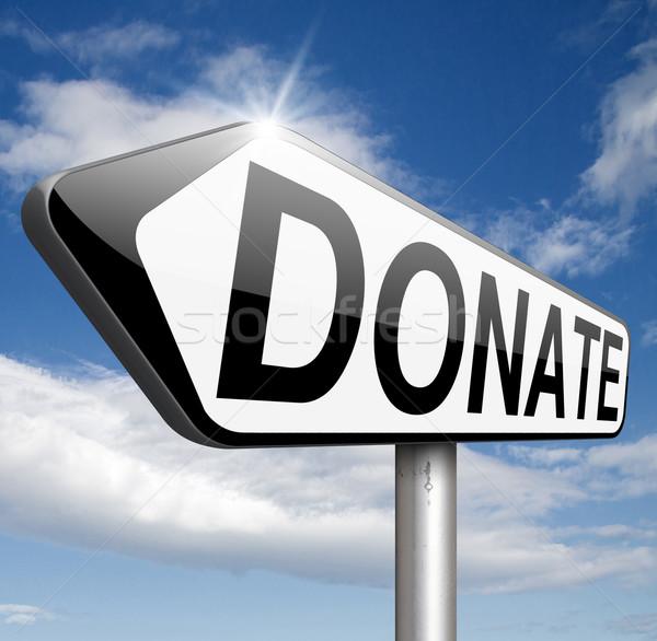 Adományoz jótékonyság ad adomány segítség alap Stock fotó © kikkerdirk