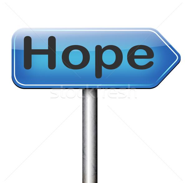 Hoop teken heldere toekomst hoopvol best Stockfoto © kikkerdirk