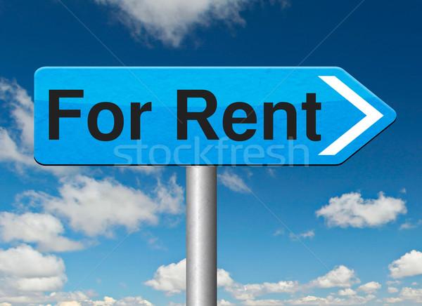 Alquilar senalización de la carretera casa apartamento otro inmobiliario Foto stock © kikkerdirk