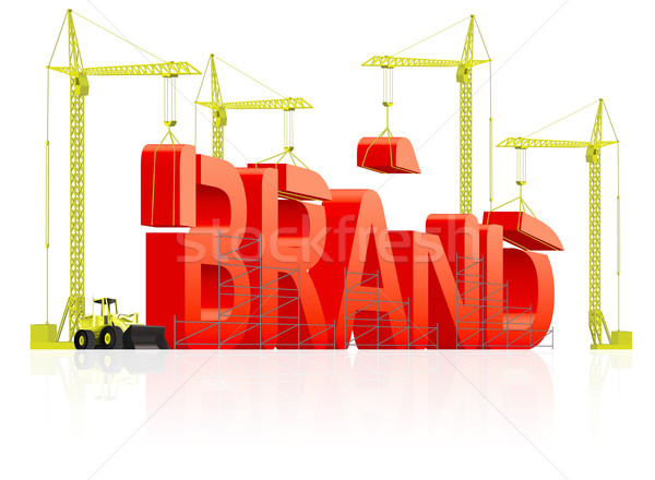 brand building Stock photo © kikkerdirk