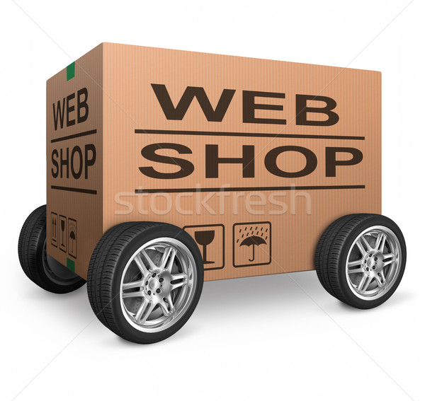 web shop cardboard box Stock photo © kikkerdirk