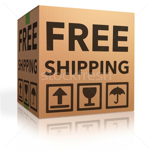 Stockfoto: Gratis · verzending · pakket · online · internet · webshop