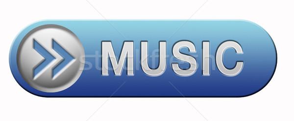 Muziek knop icon luisteren live stream Stockfoto © kikkerdirk