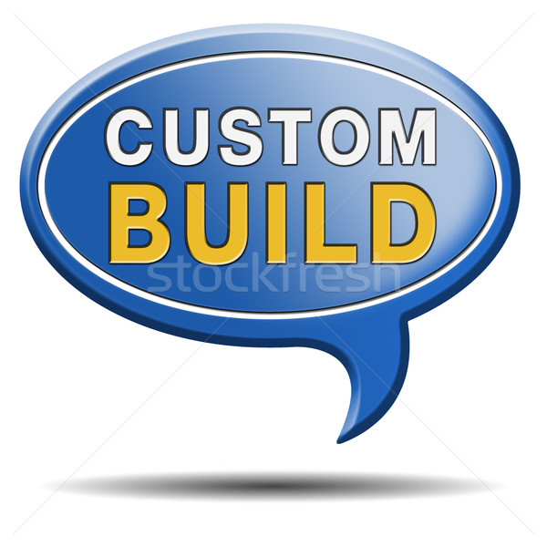 custom build label Stock photo © kikkerdirk
