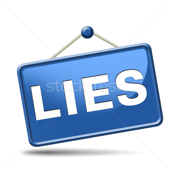 lies icon Stock photo © kikkerdirk