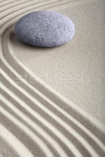 Zen nisip piatră grădină japonez meditaţie Imagine de stoc © kikkerdirk