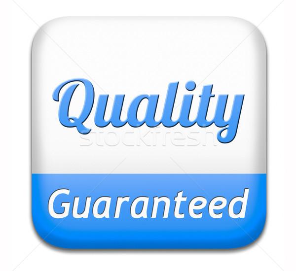 Garantili kalite kontrolü etiket 100 garanti üst Stok fotoğraf © kikkerdirk