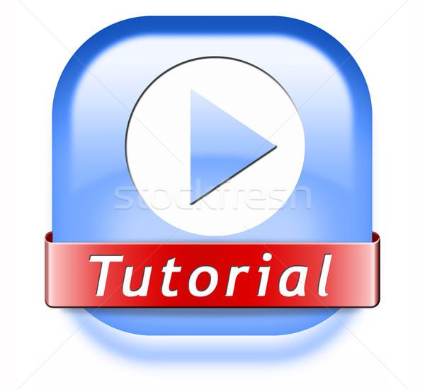 Eğitimi düğme öğrenmek çevrimiçi video ders Stok fotoğraf © kikkerdirk