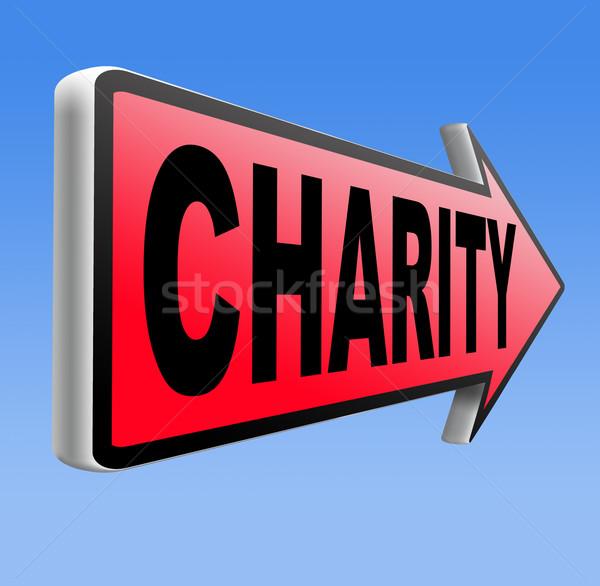 Liefdadigheid schenking geven helpen goede Stockfoto © kikkerdirk