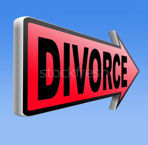 divorce Stock photo © kikkerdirk