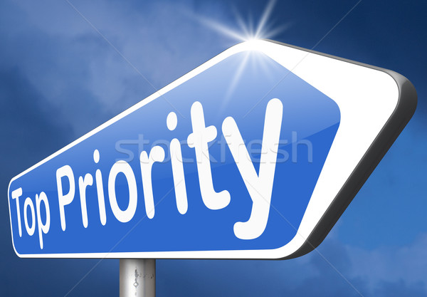 Topo prioridade alto urgente segredo informações Foto stock © kikkerdirk