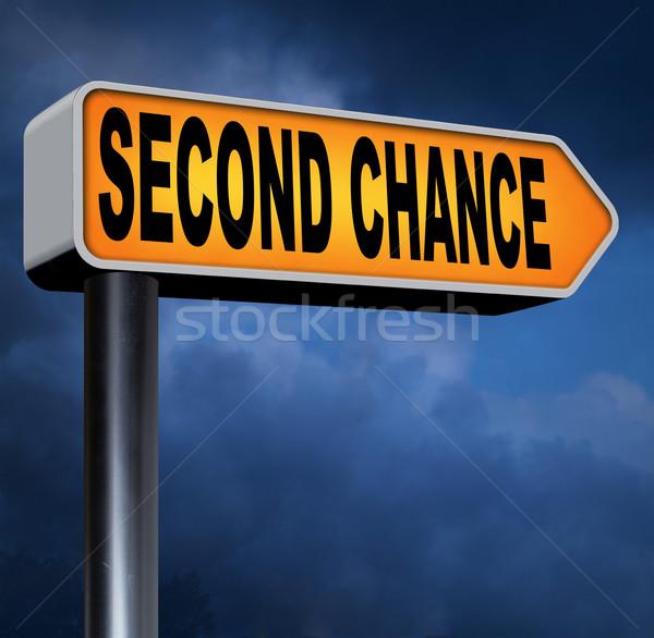 Második esély másik új új kezdet alkalom Stock fotó © kikkerdirk