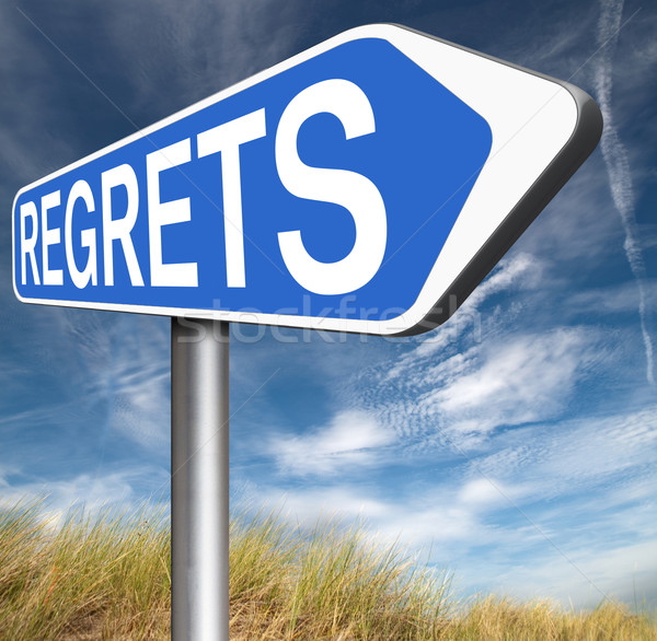 Stock photo: regrets sign