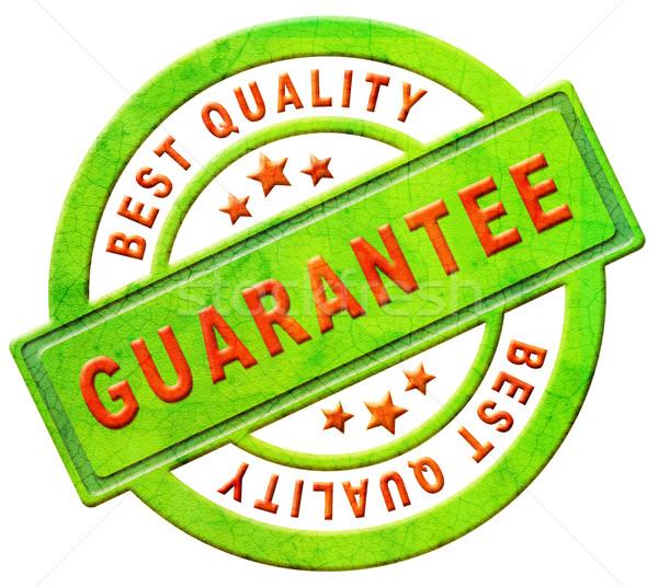 Garantir meilleur qualité tampon icône ventes Photo stock © kikkerdirk