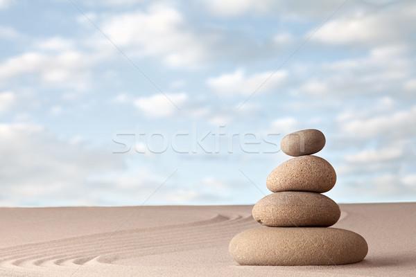 Meditation zen garden background Stock photo © kikkerdirk