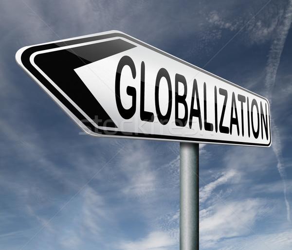 Globalisering globale Open markt internationale wereldwijd Stockfoto © kikkerdirk