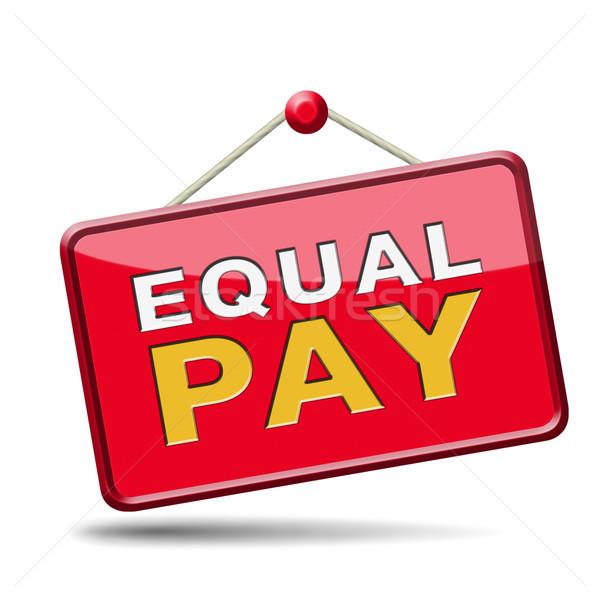 equal pay Stock photo © kikkerdirk