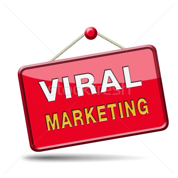 Virális marketing marketing stratégia online internet piac Stock fotó © kikkerdirk