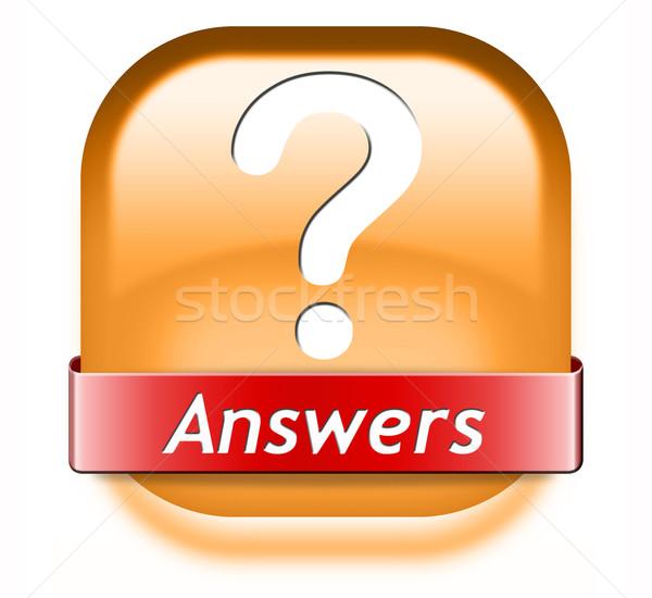 Réponses recherche répondre questions résoudre problèmes Photo stock © kikkerdirk