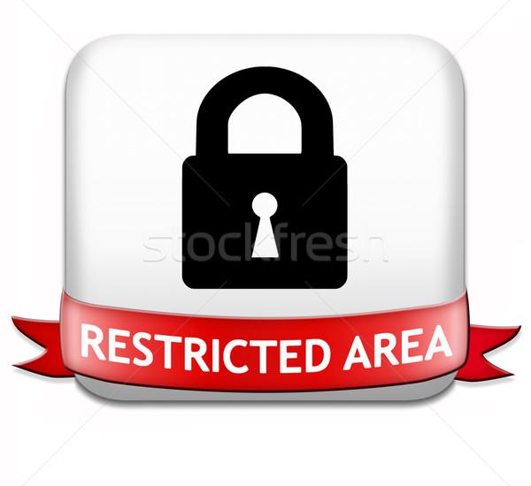 Ograniczony członkostwo hasło chroniony dostęp kluczowych Zdjęcia stock © kikkerdirk