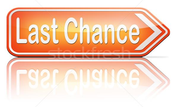 Laatste kans finale waarschuwing gelegenheid oproep Stockfoto © kikkerdirk