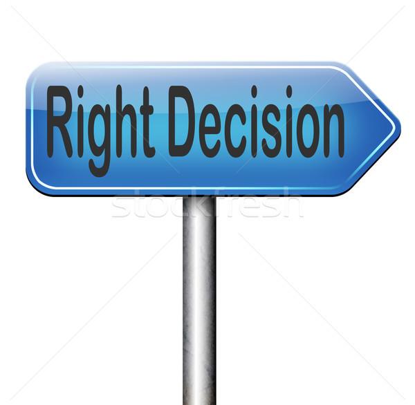 право решение выбора способом направлении Сток-фото © kikkerdirk