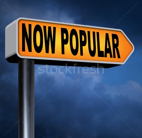 Popularny teraz moda pomysł nowego Zdjęcia stock © kikkerdirk